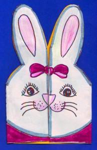 girl bunny card