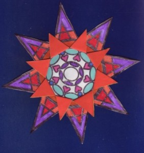 star to fold out with backing 1.